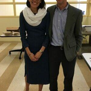 Natalia and Abe at Natalia's defense at University of Chicago (Sept 2017)