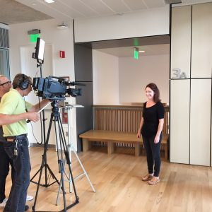 Laura Sittig shooting a scene - Filming Neuron video abstract, Sept 2016