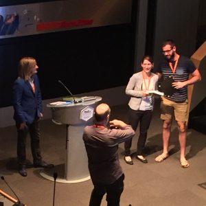 Alex Gileta wins an award at CTC 2017